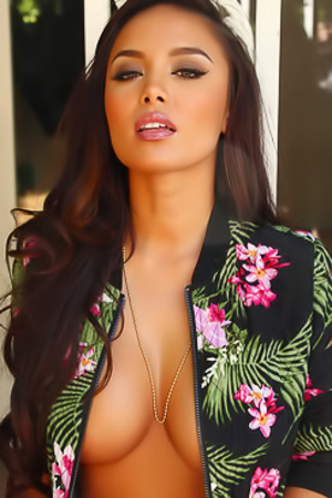 Justene Jaro Teases With A Tiny Unzipped Jacket