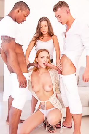 Belle And Anita, Interracial Orgy