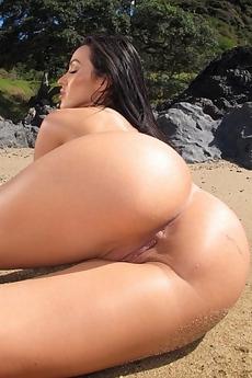 Breanne Benson Black White Bikini