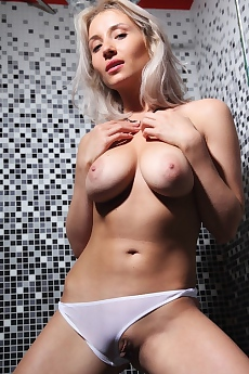 Isabella D Strips In The Shower