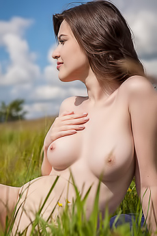 Naked Doria A On The Field